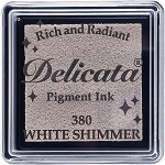 Delicata Small Ink Pad White Shimmer