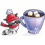 Mr. Raccoon Loves Hot Chocolate Stamp Set