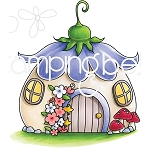 Little Bits Fairy House Stamp Set