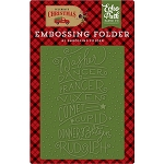 Celebrate Christmas Reindeer Names Embossing Folder
