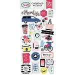 I Am Mom Chipboard Accent Stickers
