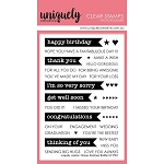 Banner Sentiment Builder Stamp Set