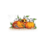 Oddball Naughty Pumpkins Stamp