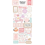 Hello Baby Girl Chipboard Phrases