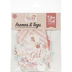 Hello Baby Girl Frames & Tags Ephemera