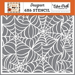 Trick or Treat Spooky Spiderwebs Stencil