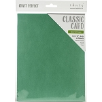 Weave Textured Classic Card 8.5 x 11 Spearmint Green