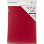 Weave Textured Classic Card 8.5 x 11 Candy Red
