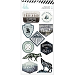 Wolf Pack Embossed Stickers