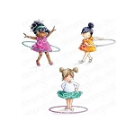Tiny Townie Hula Hoopers Stamp Set