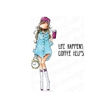 Curvy Girl Loves Coffee Stamp Set