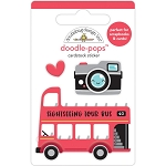 I Heart Travel Double Decker Doodle Pops