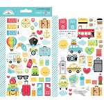 I Heart Travel Mini Icons Stickers