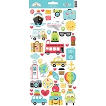 I Heart Travel Icons Stickers