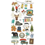 Happy Trails Chipboard Stickers