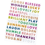 Truly Grateful Puffy Word Stickers