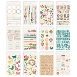 Simple Vintage Garden District 4x6 Stickers