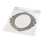 Ornate Oval Frame Die