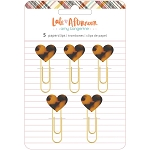 Late Afternoon Heart Paper Clips