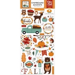 Happy Fall Accents Chipboard