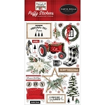 Farmhouse Christmas Puffy Stickers