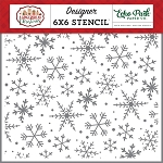 Gingerbread Christmas Magical Snowflakes Stencil
