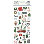 Winter Cottage Puffy Stickers