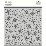 Winter Cottage Snowflakes Stencil