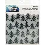 Tree Farm Peel-Apart Background Stamp