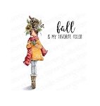 Curvy Girl Loves Autumn Stamp Set