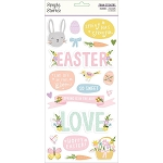 Bunnies & Blooms Foam Stickers