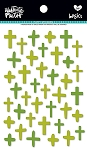 Crosses Puffy Stickers Olive You