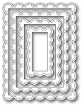 Double Stitch Scalloped Rectangle Frames Die