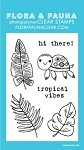 Mini Tropical Turtle Stamp Set