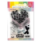 Stencil-n-Stamp: Rose Bouquet