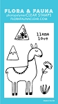 Mini Llama Love Stamp Set