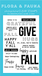Fall Word Party Stamp Set