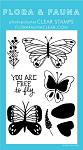 Free to Fly Butterfly Stamp Set