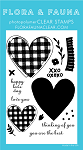 Buffalo Plaid Heart Stamp Set