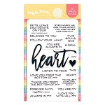 Oversized Heart Stamp Set