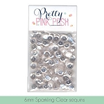 6mm Sparkling Clear Sequins