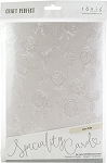 Luxury Embossed Cardstock 8.5 x 11 Ivory Toile
