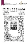 Whimsical Flowers & Quotes Stamp Set