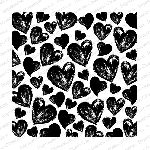 Painted Hearts Background Stamp