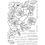 Birthday Rose Corner Stamp Set