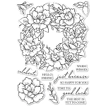 Peony Garden Wreath Stamp Set