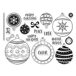 Ornament Peek-A-Boo Infinity Parts Stamp Set