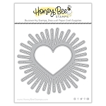 Radiant Heart Background Honey Cuts