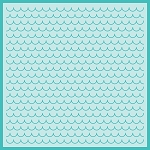 Scalloped Shingles Background Stencil
