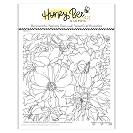 Harvest Blooms Background Stamp